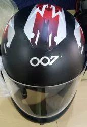 Youth Black OO7 Full Face Helmet, Size: LG