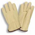 Driving Gloves Yellow Grain