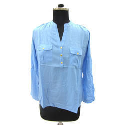 Light Blue Ladies Shirt