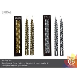 Spiral Candle Metallic