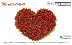 10days Red Wedding Stage deco flower hearts
