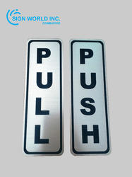 Push Pull Engraved (Silver/Gold) Sign Board