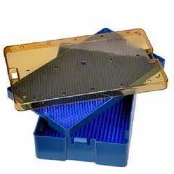 Medium Deep Plastic Sterilization Tray With  Silicon Mat