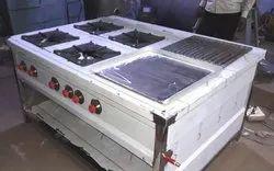 OM VINAYAKA INDUSTRIES Four Burner With Barbeque, For Kitchen
