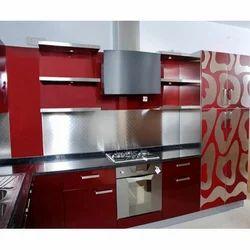 L Shape Aluminium Modular Kitchen