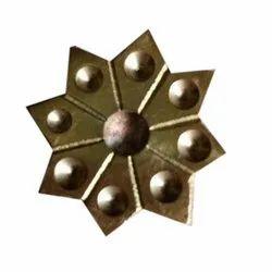 Star Shape Brass Mukha, Antique