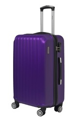 ABS F Gear Ethos Anti-Theft Zip 64cm Check-in Purple Luggage