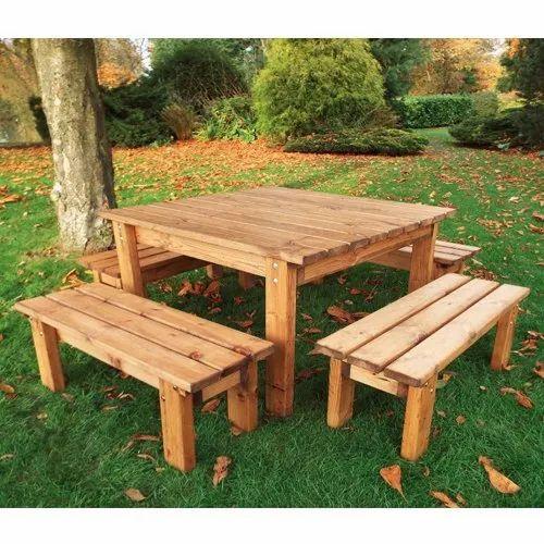 Remarkable Garden Wooden Table Bench Inzonedesignstudio Interior Chair Design Inzonedesignstudiocom