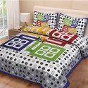 Ludo Print Pure Cotton Double Bedsheet