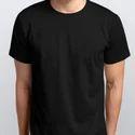 Basic Plain Black T-shirt