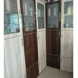 Glossy PVC Hinged Door For Home