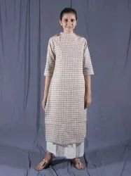 Cotton Indian Dress, Grey Kurti With Palazzo Pants, Ethnic Wear, Dress for Work, Dress for Teens