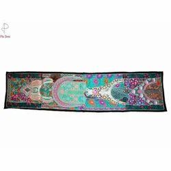 Multicolor Pita Shree Boho Table Runner, Size: 12x60 inches