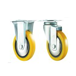 Polyurethane (PU Yellow) Caster Wheels