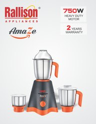 ABS GREY AND CHERRY RALLISON AMAZE 750W, 501 W - 750 W, Capacity(Litre): 1 Ltres