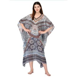 Nightwear V-Neck Ladies Kaftan