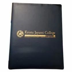 Black Leather College Conference File Folder