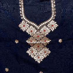 Cotton Gota Patti Embroidery Unstitched Kurti
