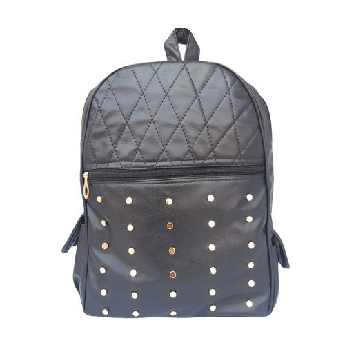 5451bc3639 DAMDAM BLACK Stylish Girls School Bag College Bag Backpack Handbag ...