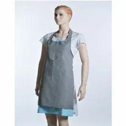 Grey Plain Linen Aprons for Kitchen, Size: Medium