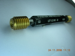 TIN Coated Thread Plug Gauges with HSS Material