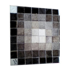 Plain Designer Rectangular Artificial Leather Carpet