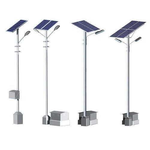 Aluminium Solar Street Light Poles Voltage 12 V