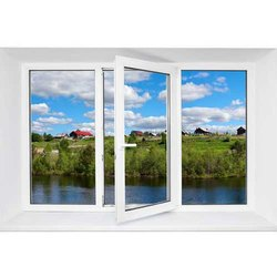 White Hinged UPVC Window, Glass Thickness: 4 To 8 Mm
