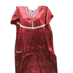 e03dcb8042 Ladies Simple Cotton Full Length Nightgown