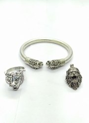 Lion Ring Pendent and Kada