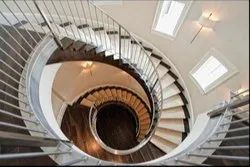 Circular Stainless Steel Staircase For Home