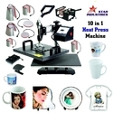Automatic 10 In 1 Combo Heat Press Machine