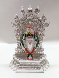Silver Floral Design Statue
