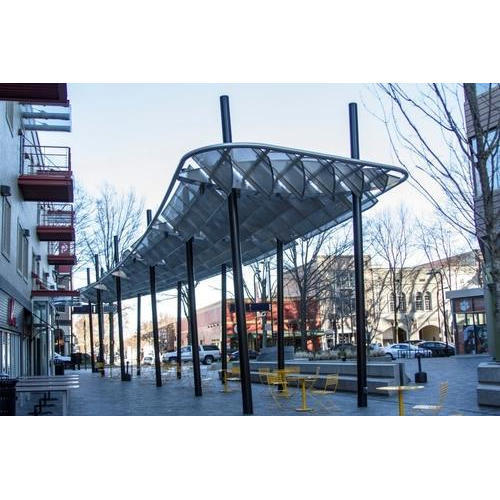 Steel shade structure wholesale trader from noida for Steel shade structure design