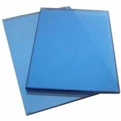Plain Blue Reflective Glass TOUGHENED