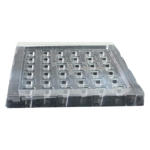 Decent Pack 36 Cavities Plastic Chocolate Packaging Tray, Capacity: 36 Pieces