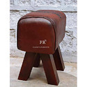 Cafe Furniture Footstool in Leather Poofer Design