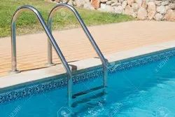 Silver Color Stainless Steel Swimming Pool Ladders
