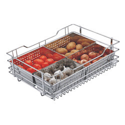 Stainless Steel Silver SS Vegetable Basket