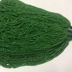 Natural Tsavorite Green Garnet Faceted Rondelle Beads Lot