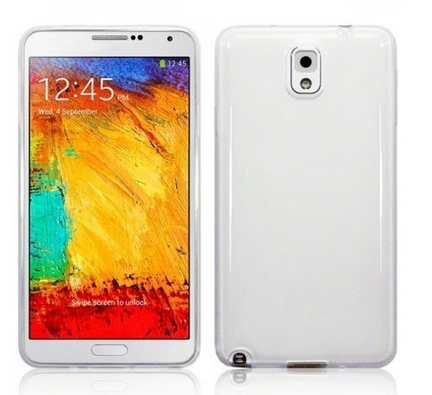 new concept db81c f471c Transparent Silicon Back Cover For Samsung Galaxy Note 3
