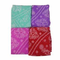 Georgette Lucknowi Chikankari Printed Saree