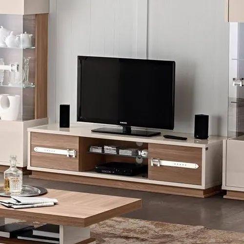 Phoenix Interior White Wooden Lcd Tv Unit Home Features Unique Design Rs 8000 Unit Id 21793768230