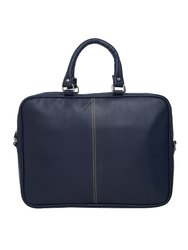 MBOSS Blue 5.7 Liter Travel Faux Leather 14 Inch Laptop Messenger Bag