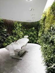 Green PVC Vertical Gardening at Spa