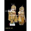 Radha Krishna Colored Poshak