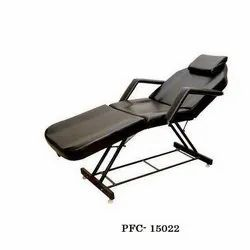 Black SS, Leather Salon Facial Bed, For Saloon