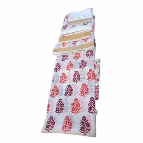 Casual Wear Printed Kerla Cotton Mekhla Chadar