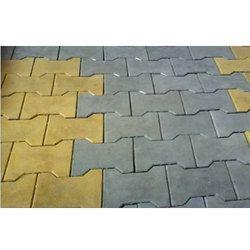 Yellow, Grey Concrete Garden Paver Block