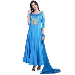 Blue Silk Frock Suit